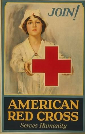The World Wars - Red Cross poster